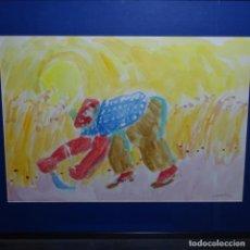 Arte: GRAN ACUARELA DE RAMON SANVISENS MARFIL (1917-1978).. Lote 200078680