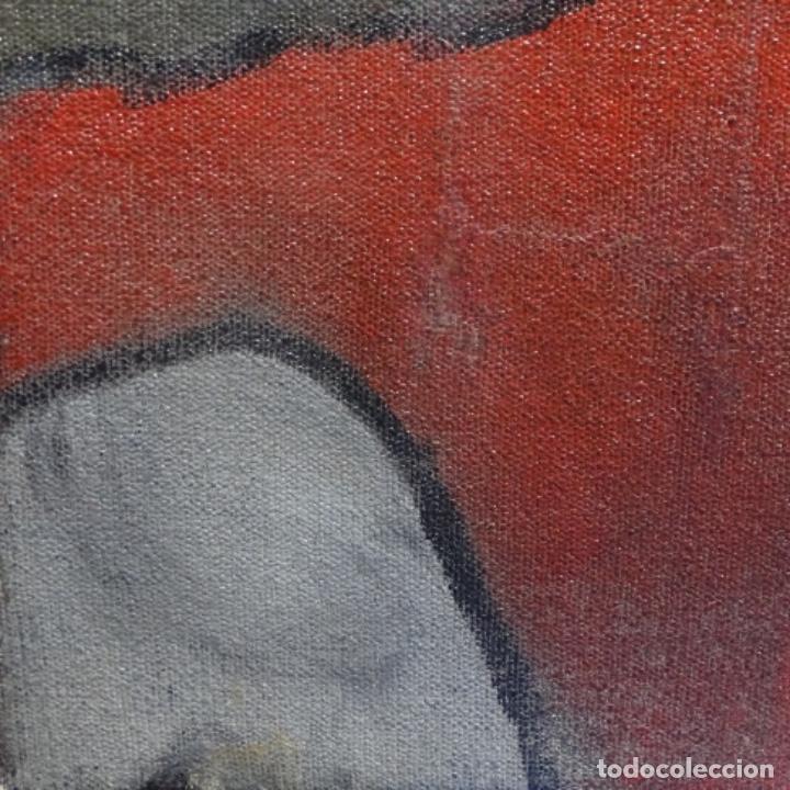Arte: Óleo reentelado muy antiguo firmado vico.jacqueline de Picasso. - Foto 5 - 200079142