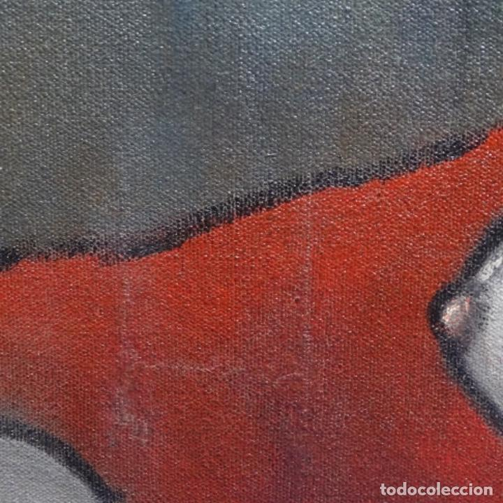 Arte: Óleo reentelado muy antiguo firmado vico.jacqueline de Picasso. - Foto 6 - 200079142