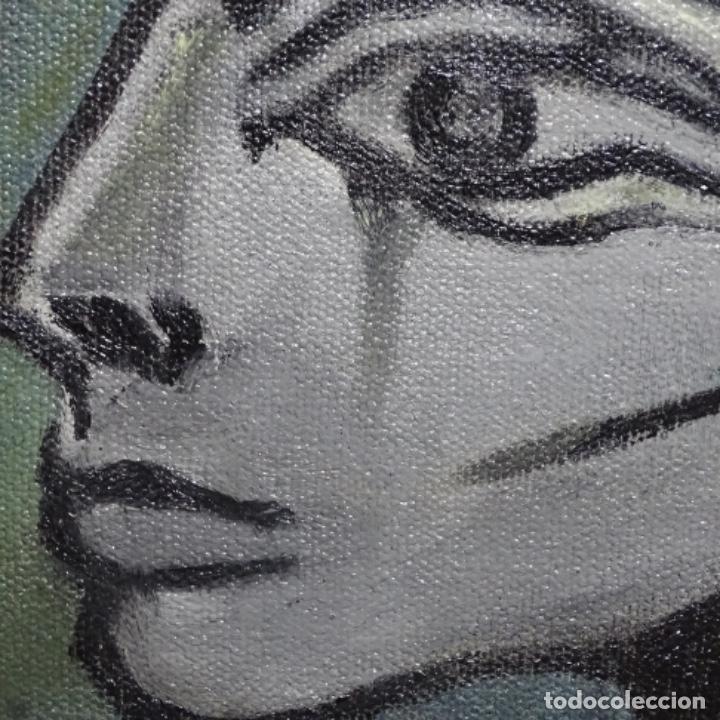 Arte: Óleo reentelado muy antiguo firmado vico.jacqueline de Picasso. - Foto 9 - 200079142