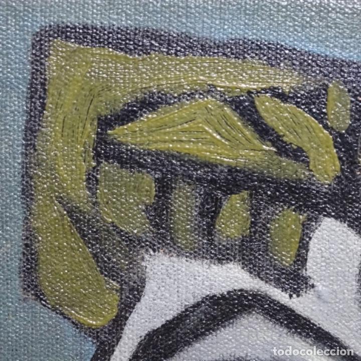Arte: Óleo reentelado muy antiguo firmado vico.jacqueline de Picasso. - Foto 10 - 200079142