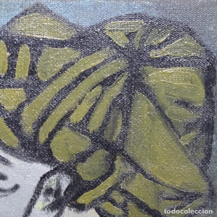 Arte: Óleo reentelado muy antiguo firmado vico.jacqueline de Picasso. - Foto 11 - 200079142