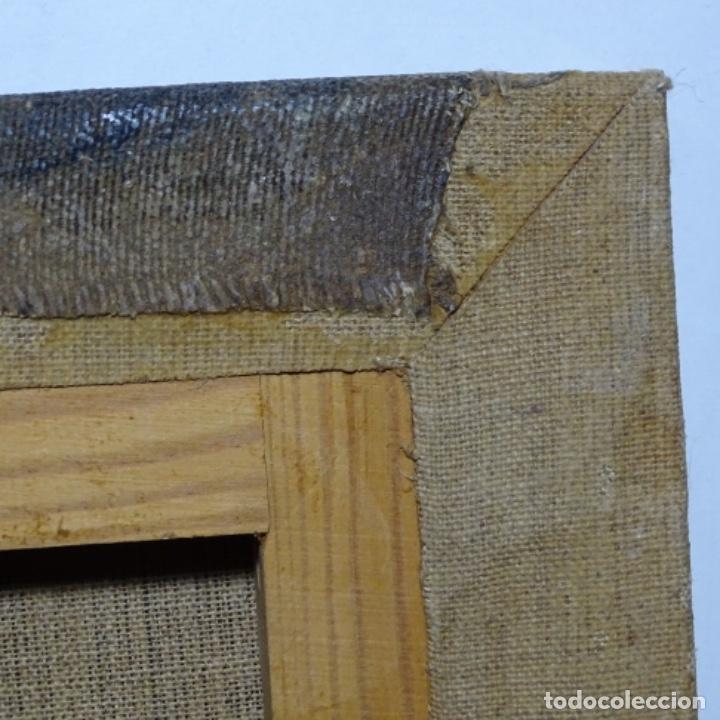 Arte: Óleo reentelado muy antiguo firmado vico.jacqueline de Picasso. - Foto 14 - 200079142