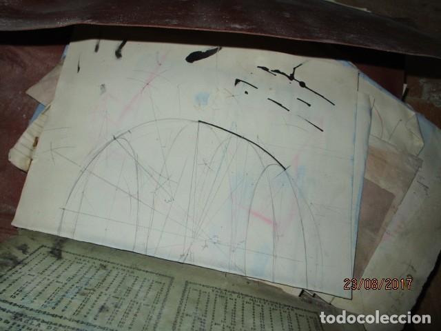 Arte: alicante carpeta con antiguos dibujos y manuscritos en libretas - Foto 8 - 200510358