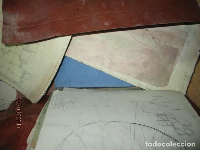Arte: alicante carpeta con antiguos dibujos y manuscritos en libretas - Foto 9 - 200510358