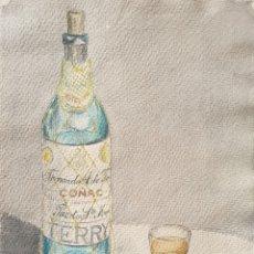 Arte: ESCUELA CATALANA - COÑAC TERRY.AGUADA I TINTA.FIRMADO.1949.. Lote 200638963