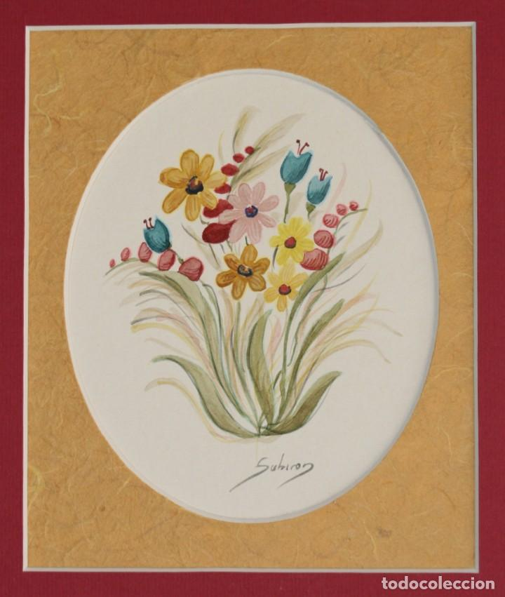 Arte: Acuarelas de flores( pareja) - Foto 2 - 200738545