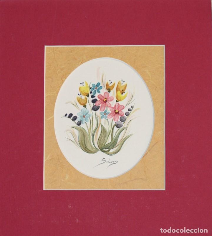 Arte: Acuarelas de flores( pareja) - Foto 3 - 200738545