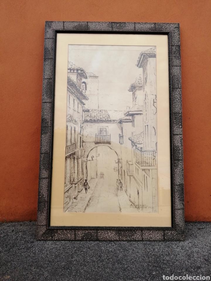 ACUARELA. OVIEDO. ARCO DE SAN VICENTE. PEDRO ALVAREZ MIRANDA (Arte - Acuarelas - Contemporáneas siglo XX)