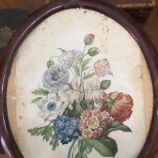 Arte: BODEGON DE FLORES FIRMADO R. GERIQUE 1882-83.. Lote 201253661