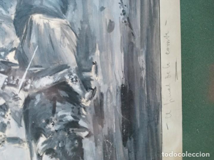 Arte: Antonio Casero Sanz (Madrid 1898-1973) El final de la corrida aguada - Foto 3 - 201267106