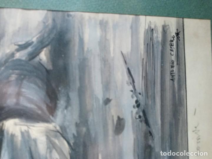 Arte: Antonio Casero Sanz (Madrid 1898-1973) El final de la corrida aguada - Foto 4 - 201267106