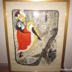 Arte: ACUARELA SOBRE PAPEL GRUESO - JANE AVRIL DE TOULOUSE LAUTREC. Lote 201312070