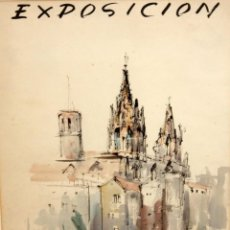 Arte: JAUME ROCA DELPECH (SALT, 1911-GIRONA, 1968) CARTEL ORIGINAL EN ACUARELA PARA EXPOSICION DEL ARTISTA. Lote 201496676
