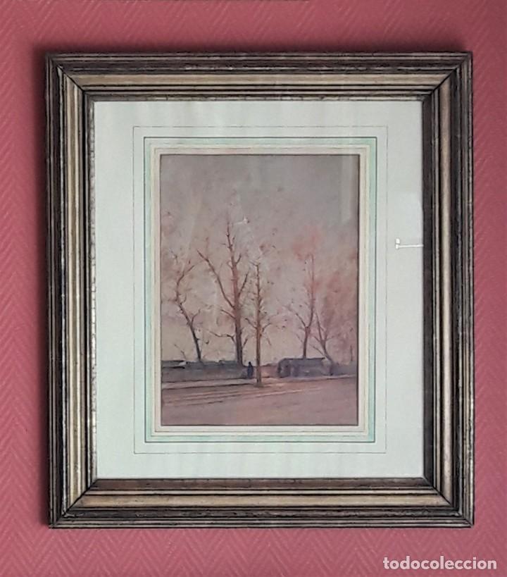 ACUARELA PARISINA, PAUL DUVERNEY (1866-1925) (Arte - Acuarelas - Modernas siglo XIX)