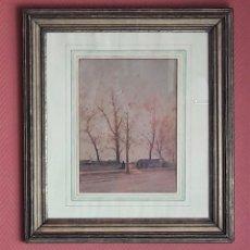 Arte: ACUARELA PARISINA, PAUL DUVERNEY (1866-1925). Lote 201654387