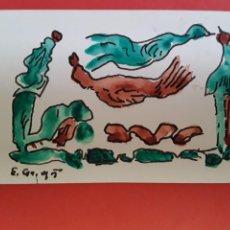 """Arte: EUGENIO F. GRANELL, """"SIN TÍTULO"""". ACUARELA TINTA/PAPEL. 12,5 X 7,5 CM. FIRMADA Y FECHADA. Lote 202593643"""