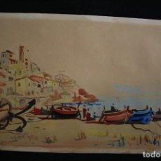 Arte: JOAN FUSTER GIMPERA (TORROELLA DE MONTGRÍ, 1917-2011) ACUARELA SOBRE PAPEL.. Lote 202807842