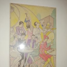 Arte: ACUARELA ARTE MIXTA .. REALIZADO EN EL 1929.. POR EL PINTOR CANARIO.. ANDRÉS PÉREZ HIDALGO... Lote 202987605