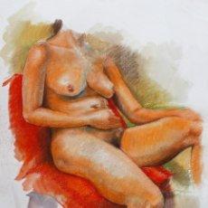 Arte: APUNTE DE MODELO DEL NATURAL - CARLOS ASENSIO. Lote 203004692