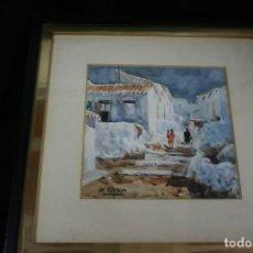 Art: FRANCISCO CLAVERO MEDINA (VÉLEZ, MÀLAGA, 1927) ACUARELA ,¡¡ PUEBLO DE VELEZ ¡¡. Lote 215856222