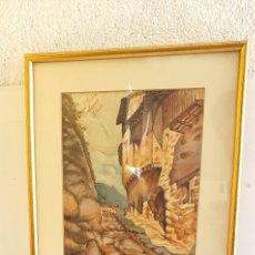 Arte: PRECIOSO CUADRO DE ACUARELA FIRMADO. 42.5CM X 36.5 CM. Lote 203247476