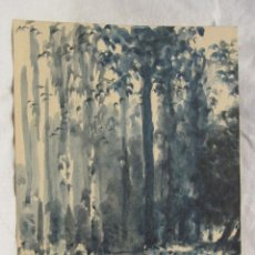 Arte: ANTONI ROS I GÜELL. BOSQUE 1949. DEDICADA A JOAQUIM FOLCH I TORRES. 11,5 X 14 CM. Lote 203596541