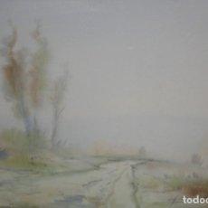 Arte: XAVIER GALIZA (OURENSE, 1943) ACUARELA SOBRE CARTULINA. PAISAJE. Lote 204106585