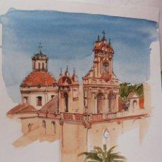 Arte: CATEDRAL. ACUARELA DE 29,5X21. Lote 204209501