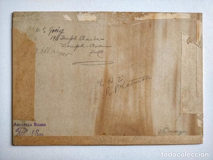 Arte: Excelente acuarela original impresionista de finales del siglo XIX, firmada R. Whatman - Foto 2 - 204222425