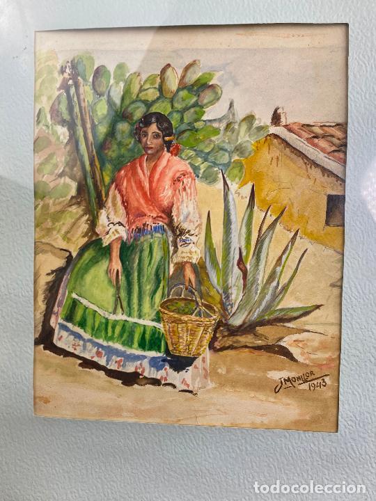 Arte: CUADRO DEL PINTOR MURCIANO JORGE MONLLOR - años 40 - Murcia - Foto 2 - 204255907