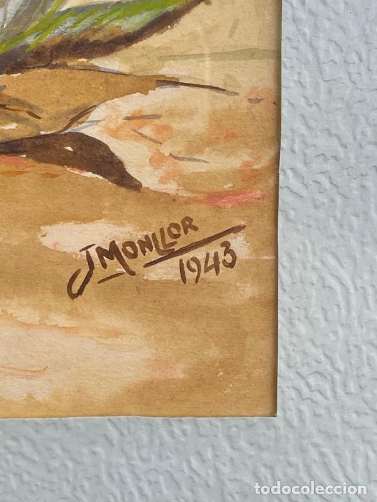 Arte: CUADRO DEL PINTOR MURCIANO JORGE MONLLOR - años 40 - Murcia - Foto 4 - 204255907