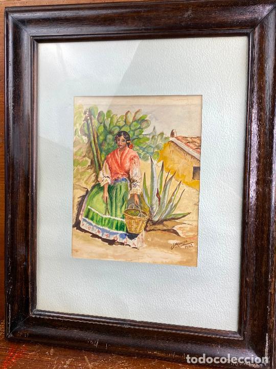 CUADRO DEL PINTOR MURCIANO JORGE MONLLOR - AÑOS 40 - MURCIA (Arte - Acuarelas - Contemporáneas siglo XX)