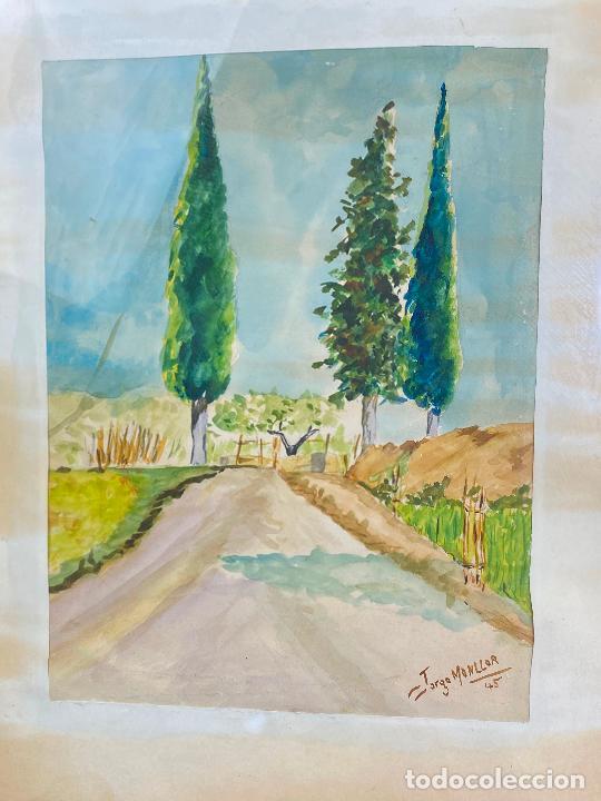 Arte: ACUARELA DEL PINTOR MURCIANO JORGE MONLLOR - 1945 - Murcia - Foto 2 - 204256050