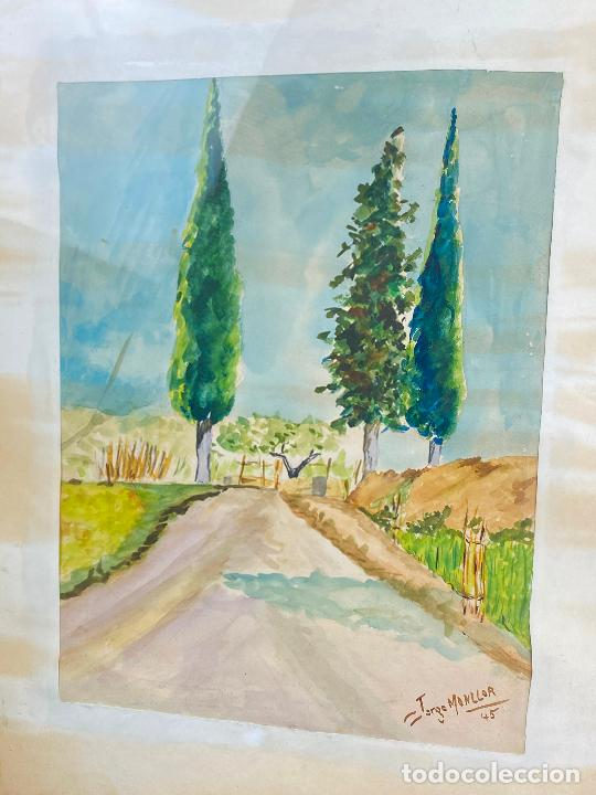 Arte: ACUARELA DEL PINTOR MURCIANO JORGE MONLLOR - 1945 - Murcia - Foto 4 - 204256050