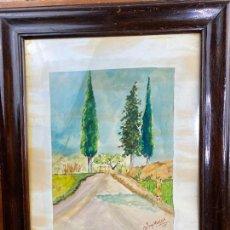 Arte: ACUARELA DEL PINTOR MURCIANO JORGE MONLLOR - 1945 - MURCIA. Lote 204256050