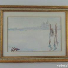 Art: PINTURA DE ACUARELA PAISAJE FIRMADA Y ENMARCADA MAGNIFICA PIEZA. Lote 204281220