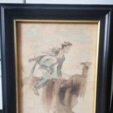 Arte: FERNANDO CABEDO TORRENTS (VALENCIA, 1907-1988) OBRA DEL ACUARELISTA REPUBLICANO, ENMARCADA 37X45. Lote 204428435