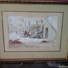 Arte: ACUERELA DE ERASMO DE LASARTE (BARCELONA 1865-1938). Lote 204661768