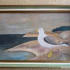 Arte: ACUARELA GAVIOTA .. Lote 205006265