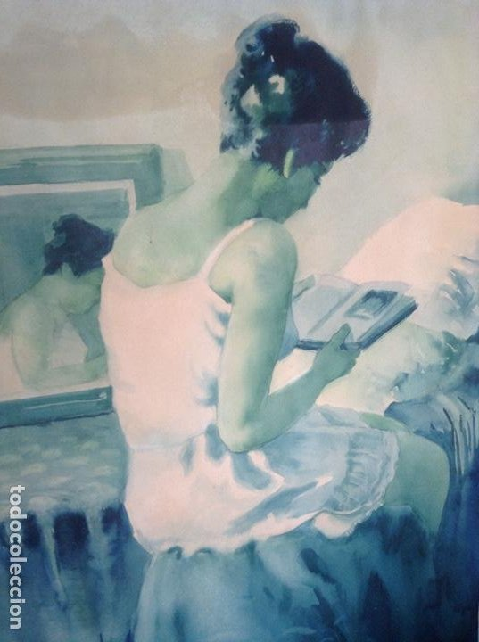 ACUARELA JOAN TORRABADELL (Arte - Acuarelas - Contemporáneas siglo XX)