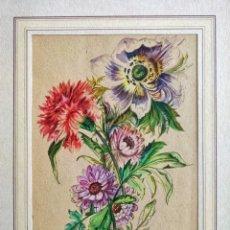 Arte: MAGISTRAL ACUARELA ORIGINAL FIRMADA, CIRCA 1880, GRAN CALIDAD. Lote 205103523