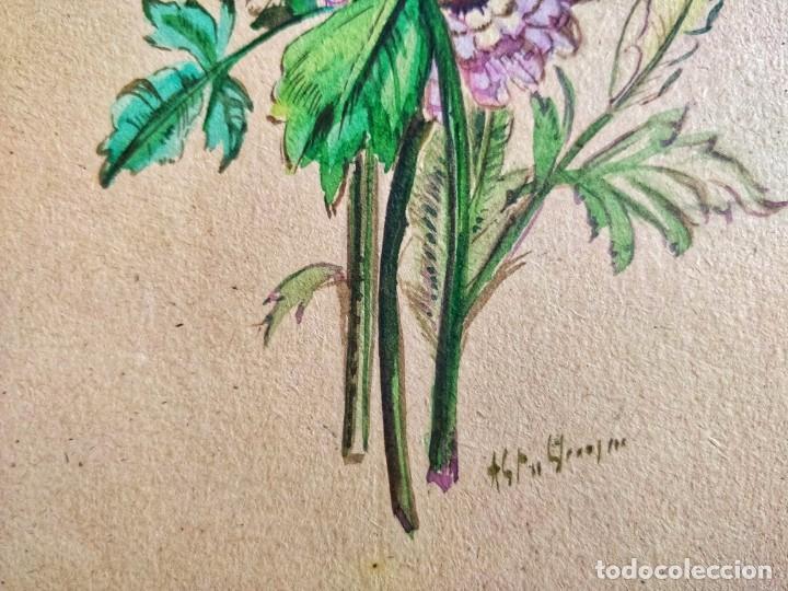 Arte: Magistral acuarela original firmada, circa 1880, gran calidad - Foto 3 - 205103523