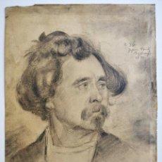 Arte: MAGISTRAL RETRATO ORIGINAL FIRMADO JOHANN SCHMITZ-SCHUHMACHER, FECHADO 1884, GRAN CALIDAD Y REALISMO. Lote 205123331