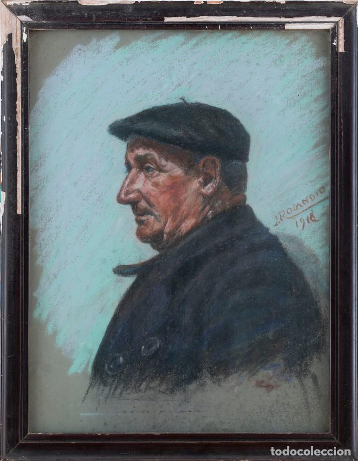 JOSÉ ROCANDIO (SAN SEBASTIAN 1897-1985) - PESCADO - PASTEL SOBRE PAPEL - 61*46 (70*54) (Arte - Acuarelas - Contemporáneas siglo XX)