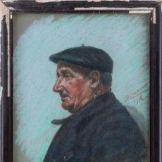 Arte: JOSÉ ROCANDIO (SAN SEBASTIAN 1897-1985) - PESCADO - PASTEL SOBRE PAPEL - 61*46 (70*54). Lote 205143018