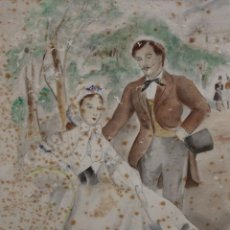 Arte: JOSÉ LUIS FLORIT RODERO (MADRID, 1909 - PARÍS, 2000) ACUARELA SOBRE PAPEL. PAREJA GALANTE. Lote 205267642