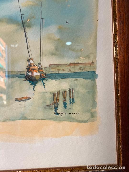 Arte: Curiosa acuarela marina firmada - Foto 2 - 205384990