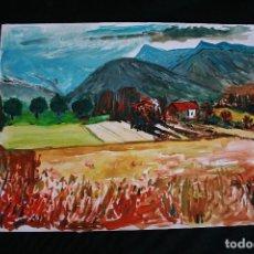 Arte: BONITA ACUARELA, PAISAJE, CIRCULO DE JOAN ABELLÓ. Lote 205434438