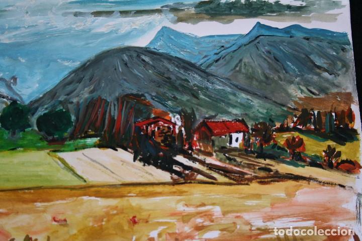 Arte: BONITA ACUARELA, PAISAJE, CIRCULO DE JOAN ABELLÓ - Foto 3 - 205434438